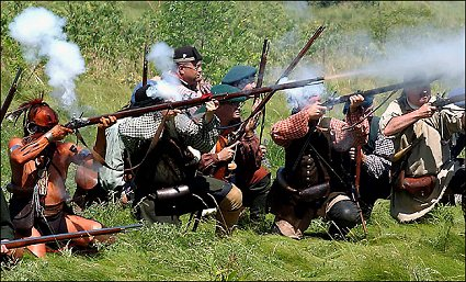 To impair the re enactment of the final battle of the french