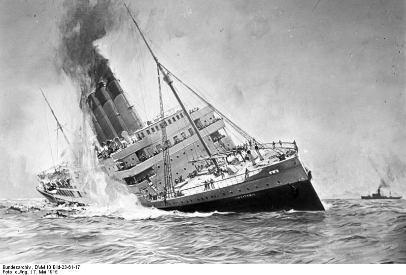 sinking of the lusitania The rms lusitania was struck by a torpedo and sunk by a german u-boat may  7th, 1915 this event helped sway american public opinion and.
