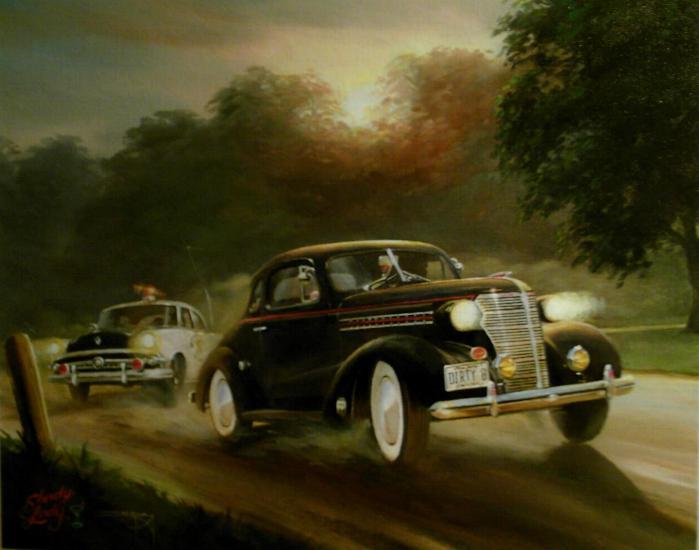 chasing moonshiners cars