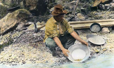 panning for gold in the gold rush - photo #16