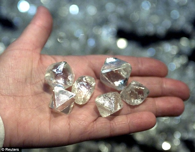 Some of diamonds found in Popigai Crater
