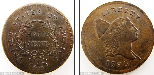 1796 half cent