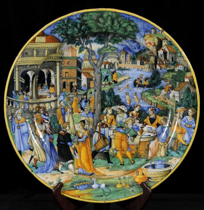 1540 Italian maiolica plate