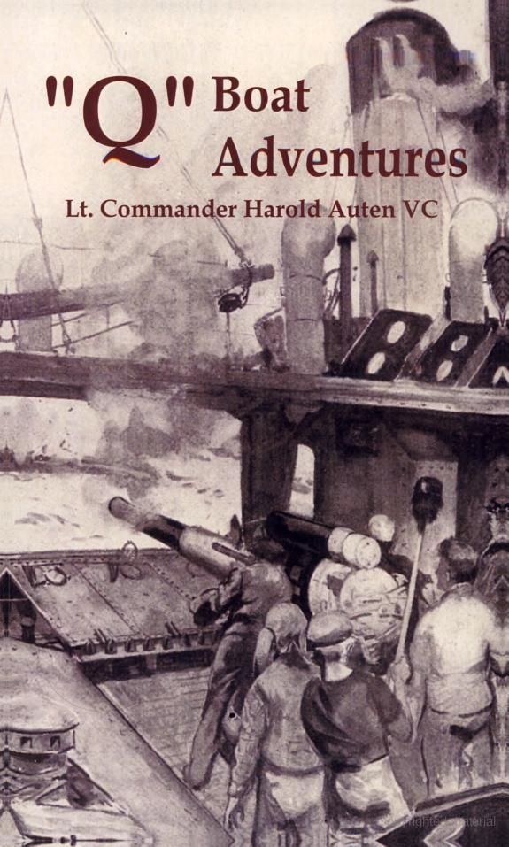 """Lt. Commander Harold Auten's book, """"Q-Ship Adventures."""""""