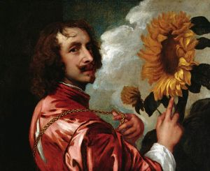 """Anthony van Dyke, """"Self Portrait With a Sunflower"""""""