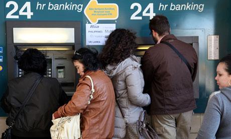 Cyprus bank Nicosia cashpoint