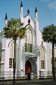 Front of Huguenot Church before it underwent renovation..
