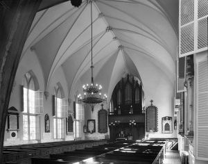 Interior of Charleston's Huguenot Church.
