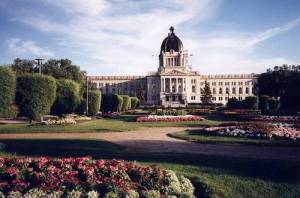 The Saskachewan Provincial Legislature Building in Regina.