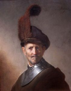 """""""An Old Man in Military Costume,"""" 1630, another of the Getty Museum's Rembrandts."""
