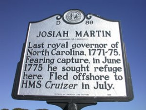 North Carolina historical marker in Southport, NC.