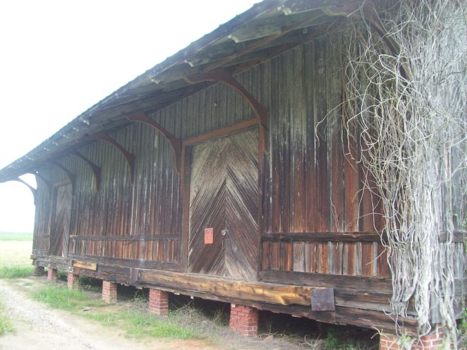 The old Atlantic Coast Railroad freight depot in Lone Star, SC.