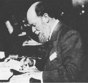"Famed jeweler Carl Fabregé plying his ""trade."""