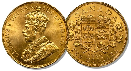 10-Canadian gold coin