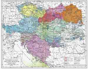 Ethnic map of Austo-Hungarian Empire.