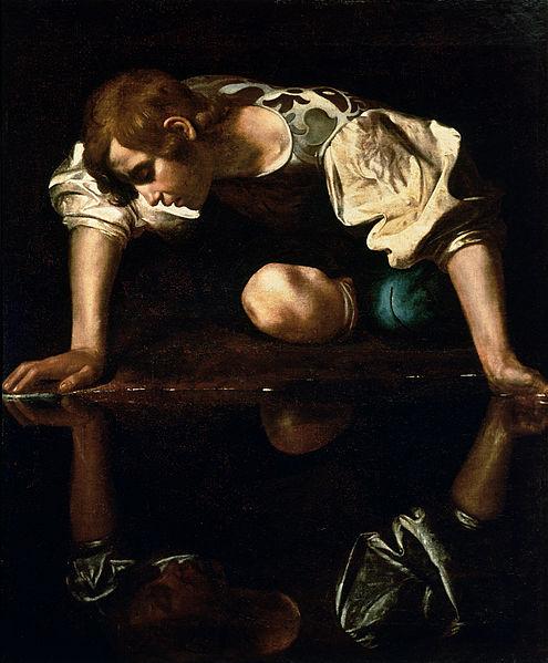 Narcissus-Caravaggio