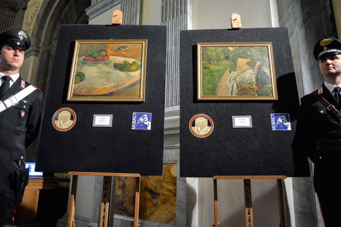 ITALY-BRITAIN-FRANCE-CRIME-ART