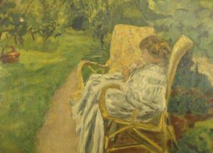 "Pierre Bonnard's ""The Girl with Two Chairs."""