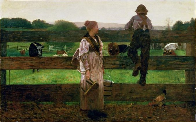 Winslow_Homer_-_Milking_Time