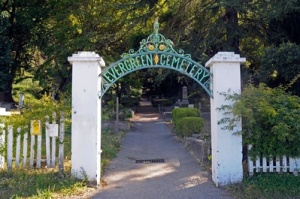 Entrance to Evergreen Cemetery, Santa Cruz, Calif.
