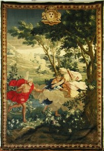 View of the Louis XIV tapestry.