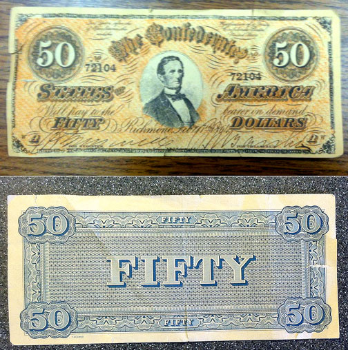 fake confederate money