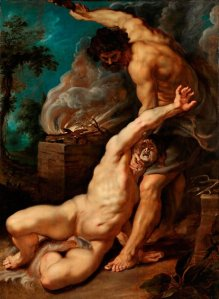 """Purported """"prophet"""" Cain Slaying Abel, by Peter Paul Rubens. 1608-09."""