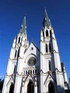 Cathedral of St. John the Baptist, Savannah, Ga., where Flannery O'Connor attended mass as a child and the site of Sunday's Remembrance Memorial.