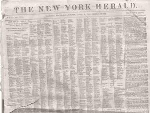 New York Herald, April 6, 1861, edition.