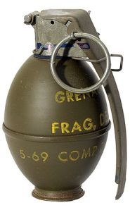 Hand grenade: Generally not effective as means to discipline children.