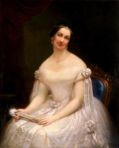 Julia Gardiner Tyler (1820-1889), second wife of President John Tyler and grandmother of Lyon Tyler and Harrison Tyler.