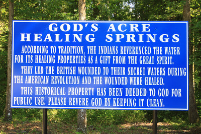 God's acre sign