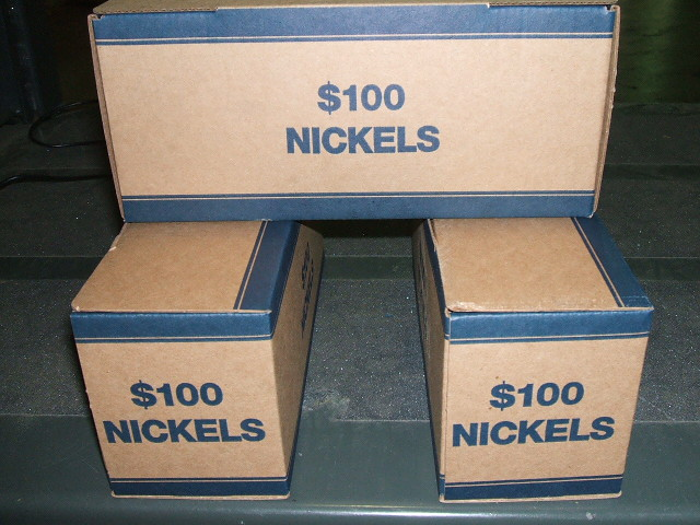 boxes of nickels