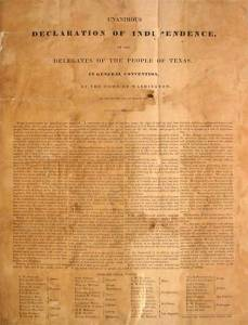 Texas Declaration of Independence.