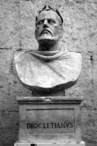 Bust of Diocletian.