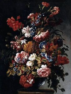"Paolo Porpora's 17th century work ""Flowers,"" damaged Sunday."