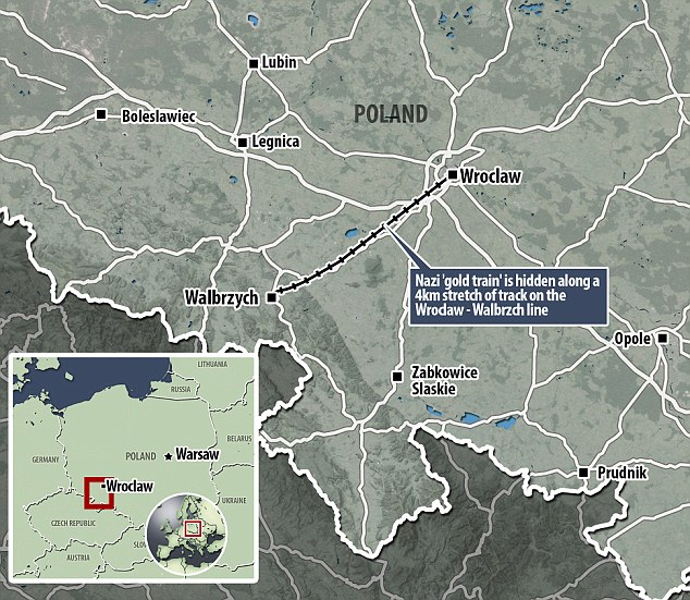 Southern Poland Map.Reports Of Nazi Train Buried In Southern Poland Appear True The