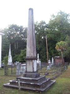 Memorial to parishioners of Presbyterian Church of Edisto Island lost in the sinking of the Pulaski on June 14, 1838.
