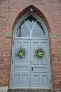 Door to First Presbyterian Church, Laurens, SC.