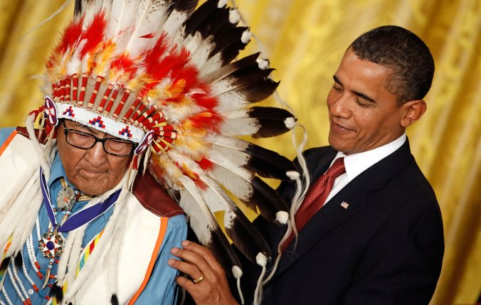 Obama honors joe medicine crow