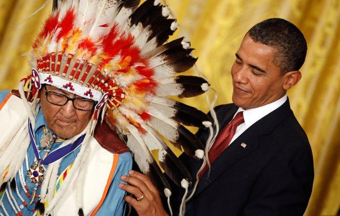 Obama honors joe medicine crow