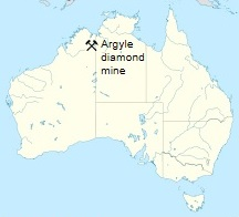 Site of Argyle Diamond Mine, in the East Kimberley region in north of Western Australia.