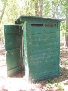 Good old outhouse. Operational, as author found from experience.