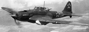 Il-2 Sturmovik, similar to what Stepan Borozenets flew during World War II.